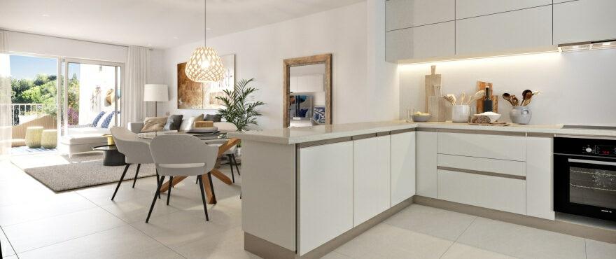 Cocina moderna en el nuevo residencial Canyamel Pins