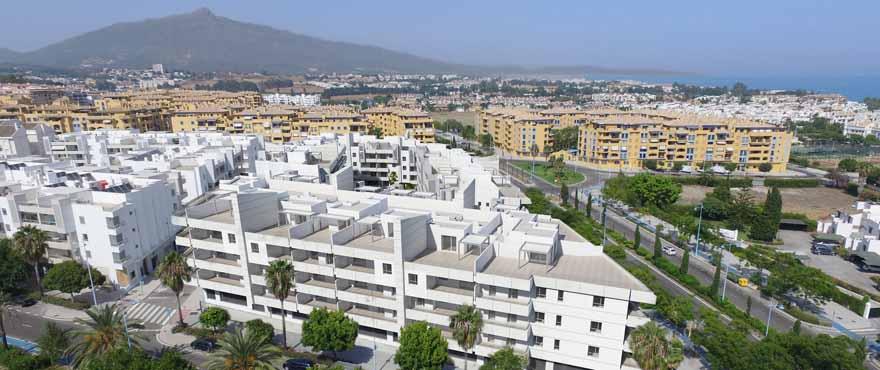 Außenansicht der Wohnungen im Verkauf, Wohnkomplex Acqua, Marbella