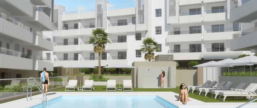 Lägenheter till salu med pool i San Pedro de Alcántara, Marbella, Costa del Sol