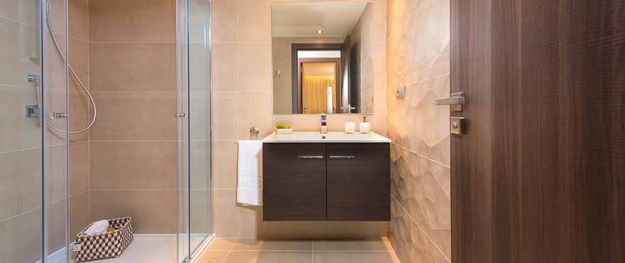 Modern bathroom design at Acqua, Marbella, Costa del Sol