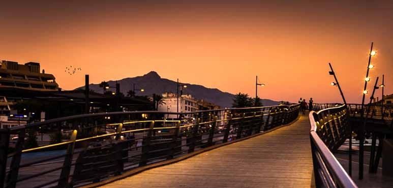 Sonnenuntergang in San Pedro de Alcántara, Marbella