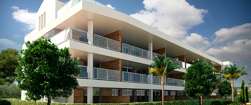 Facade apartments for sale, Jardin del Mar, Javea