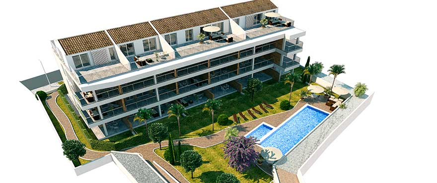Apartments with communal pool, Jardin del Mar, Javea
