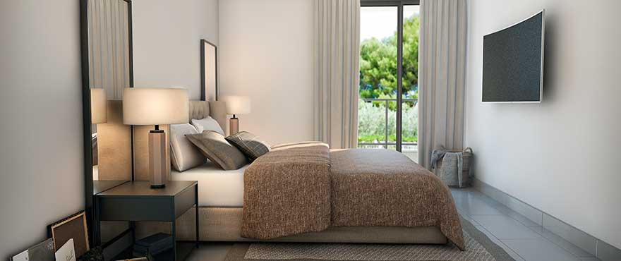 Modern bedroom design, exclusive apartments by Taylor Wimpey Spain