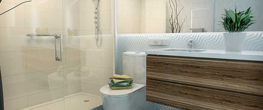 Modern bathroom design at Jardin del Mar