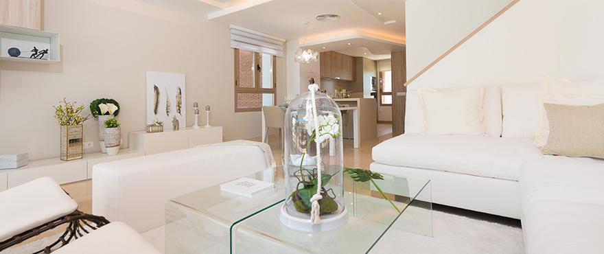 Amplio salón con acceso a la cocina