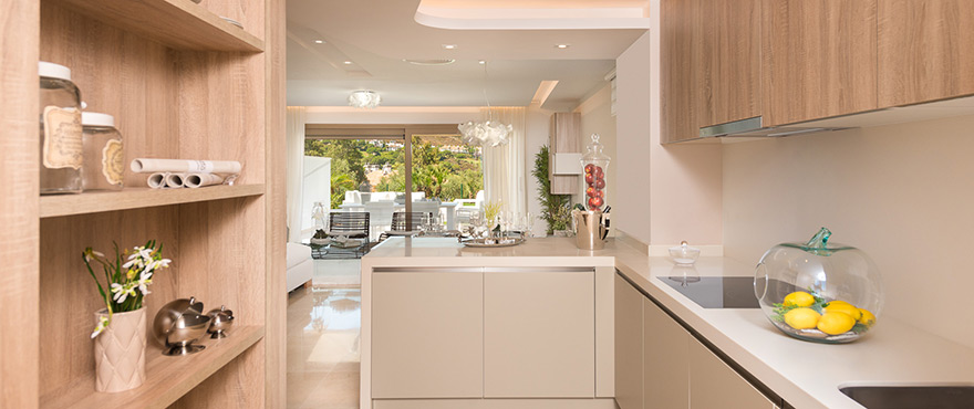 Modern and well-equipped kitchen at Horizon Golf