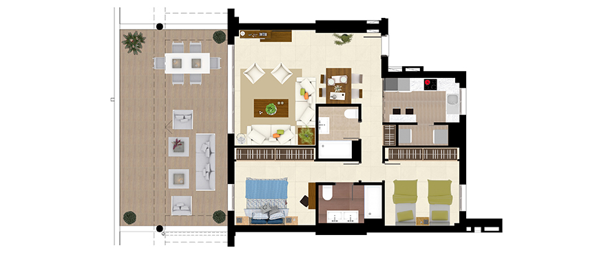 Horizon Golf apartments 2 bedrooms