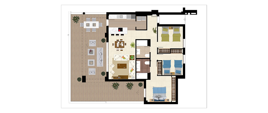 Horizon Golf apartments 3 bedrooms