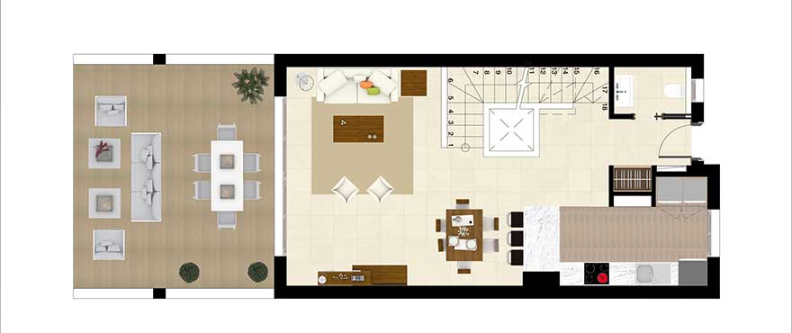 Horizon Golf townhouses Groundfloor