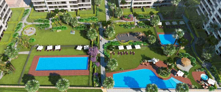 Panorama Mar: new apartments with swimming pools and communal garden
