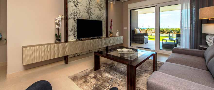 Luminous living room with views in Punta Prima, Torrevieja