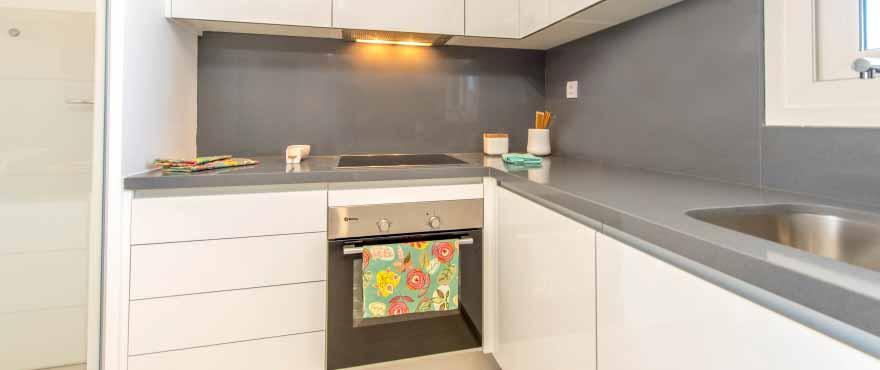 Luminous kitchen at Panorama Mar