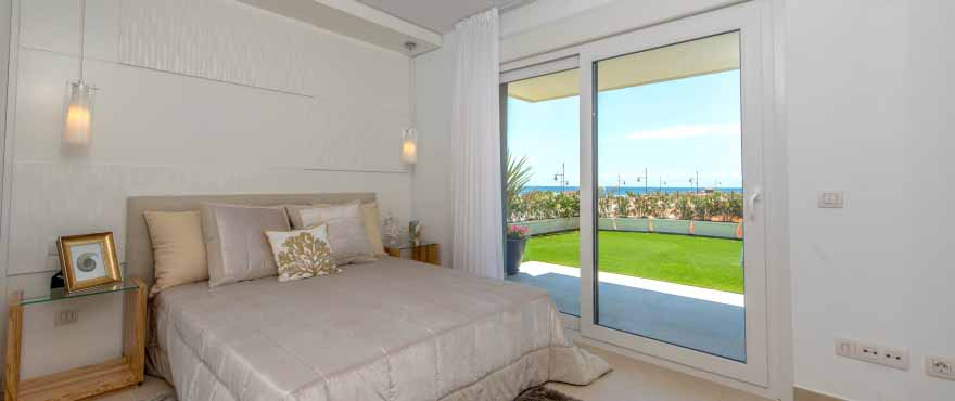Panorama Mar bedroom, with sea views