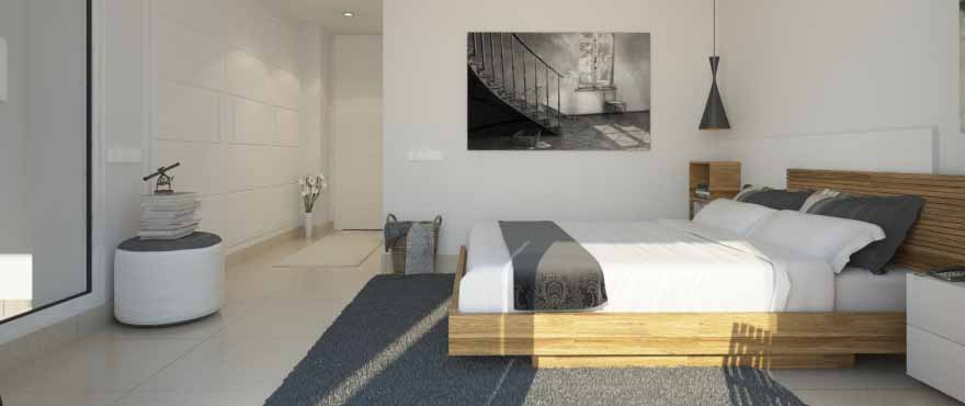 Luminoso dormitorio en Punta Prima, Torrevieja