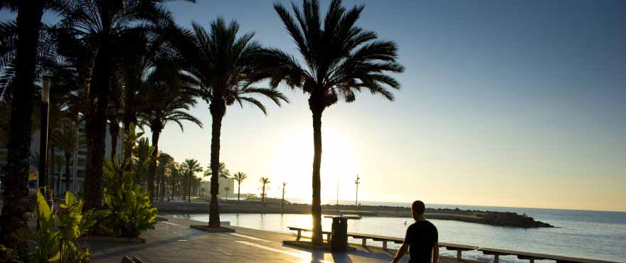 Promenaden i Torrevieja, Alicante, Costa Blanca