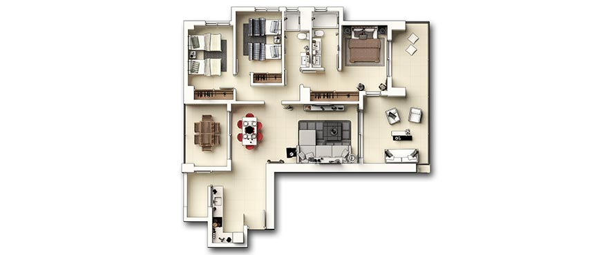 Plan new 3 bed apartments - Panorama Mar