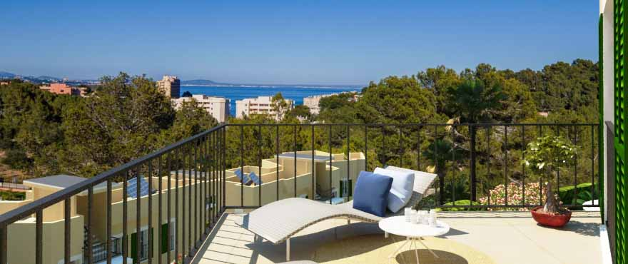 Cala Vinyes Hills private terrace, new apartments for sale, Taylor Wimpey