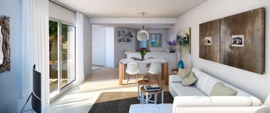 Cala Vinyes Hills, luminous living room, property for sale