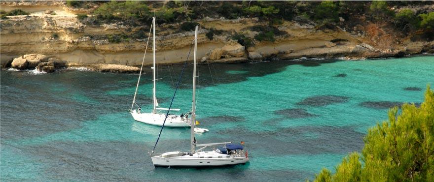 Cala Vinyes, Mediterranean beach, Mallorca, Spain