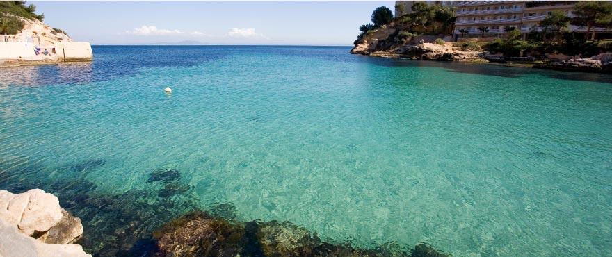 Cala Vinyes, medelhavsstrand, Mallorca, Spanien