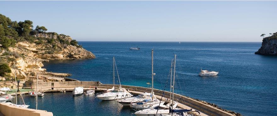 Die Bucht von Cala Vinyes, 20 Minuten vom Flughafen entfernt