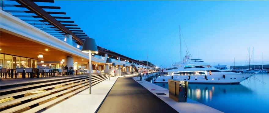 Port Adriano, Marina and restaurants, Mallorca