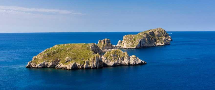 Cala Vinyes, strand aan de Middellandse Zee, Mallorca, Spanje