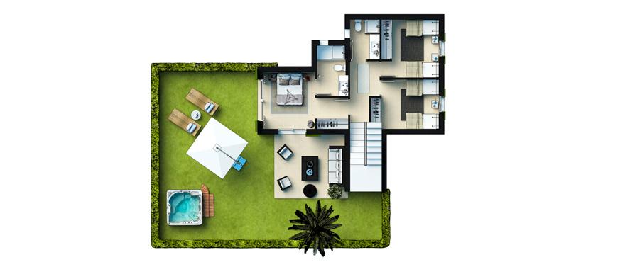 Plan Cala Vinyes HIlls - Duplex Groundfloor