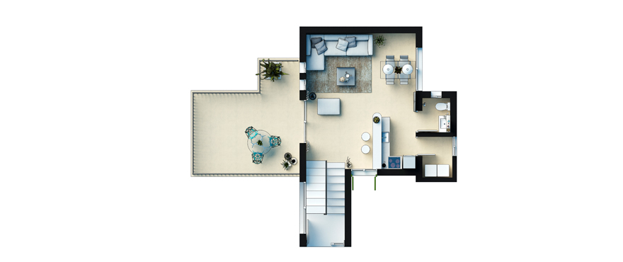 Plan Cala Vinyes HIlls - Duplex First Floor