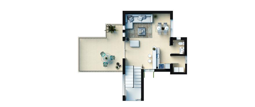 Plan Cala Vinyes HIlls - Duplex First Floor
