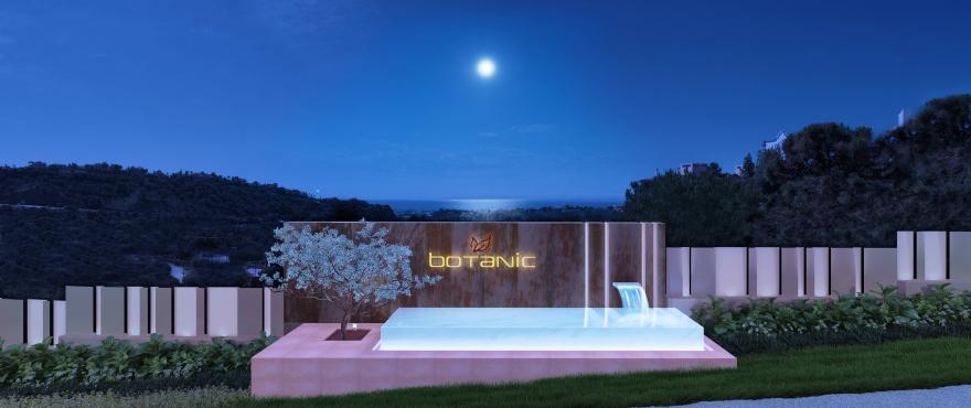 Botanic new apartments for sale in Benahavis, entrance