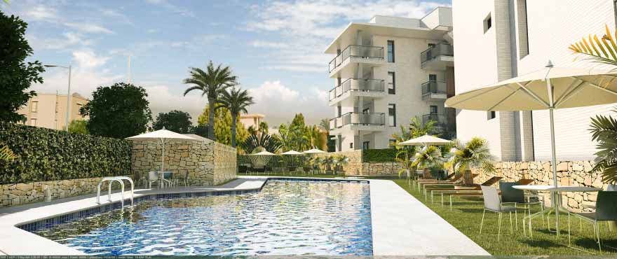 New Apartments In Javea With Communal Pool And Gardens