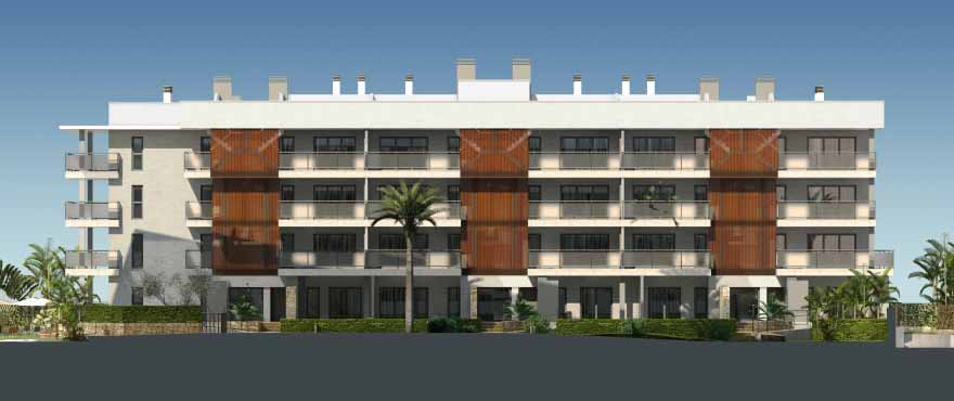 Facade of Arenal Dream, new apartments for sale, Javea