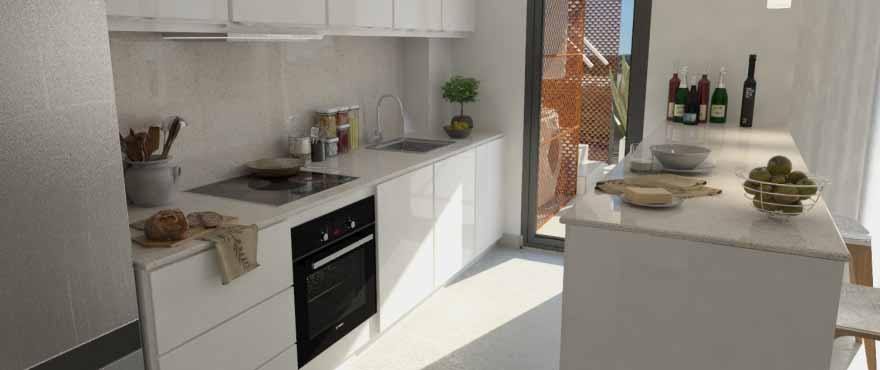 Modern kitchen of Arenal Dream, new property for sale Javea