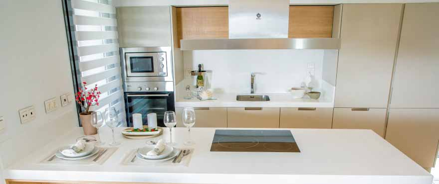 Top of the range kitchen appliances and sanitary fittings in Botanic apartments