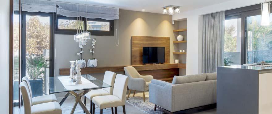 Salón luminoso y moderno en Arenal Dream, Javea
