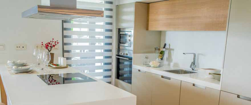 Top of the range kitchen appliances and sanitary fittings