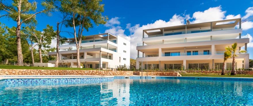 Serenity, rymliga lägenheter till salu med gemensam pool, Santa Ponsa