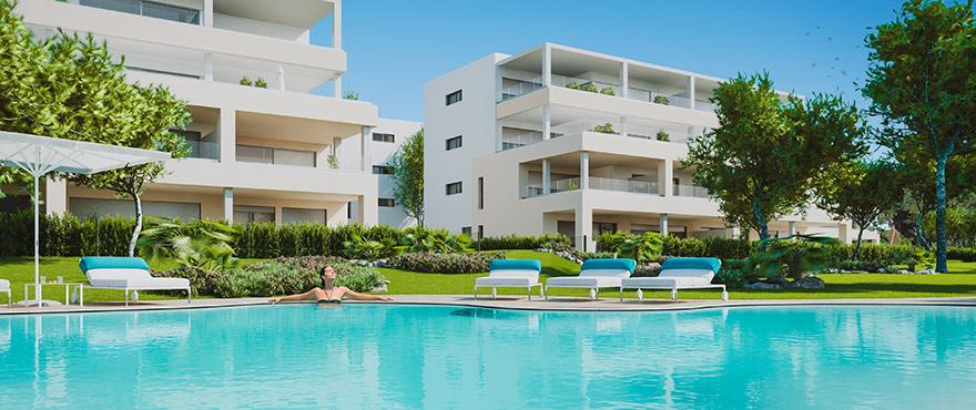 Serenity, amplios apartamentos en venta con piscina comunitaria, Santa Ponsa