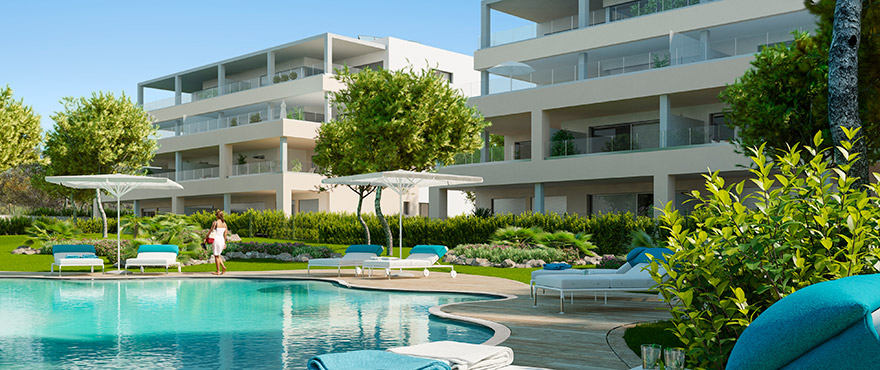 Serenity, spacious apartments for sale with communal swimming pool, Santa Ponsa
