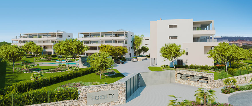 Serenity, new apartments for sale with comunal gardens, Santa Ponsa
