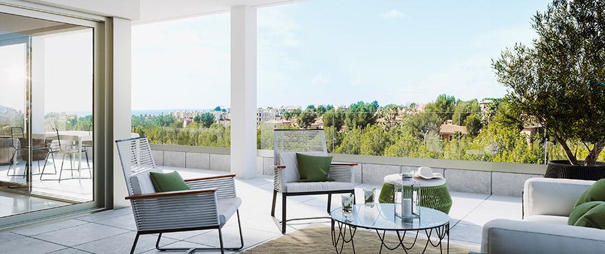 Serenity, romslige terrasser i Santa Ponsa