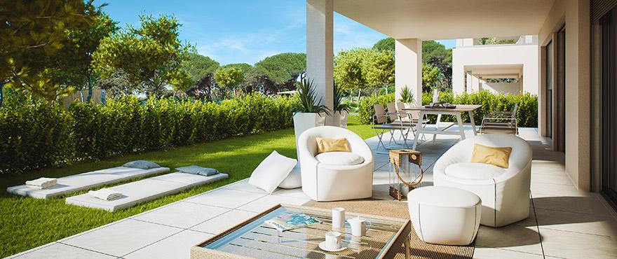 Serenity, spacious terraces in Santa Ponsa