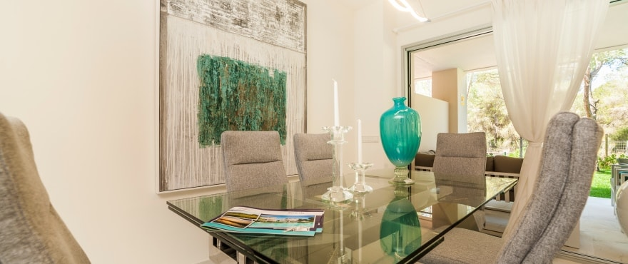 Serenity, luminous living room in the new apartments in Nova Santa Ponsa