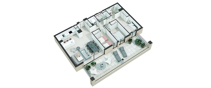 Serenity - apartamento 3 dormitorios 2-10