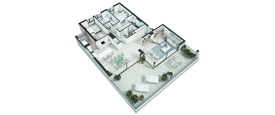 Serenity - apartamento 3 dormitorios ático