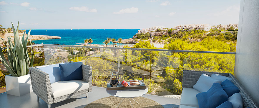 Beautiful sea views from the townhouse terrace