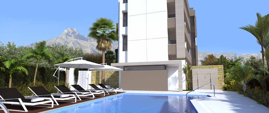 New apartments with community pool for sale in Marbella