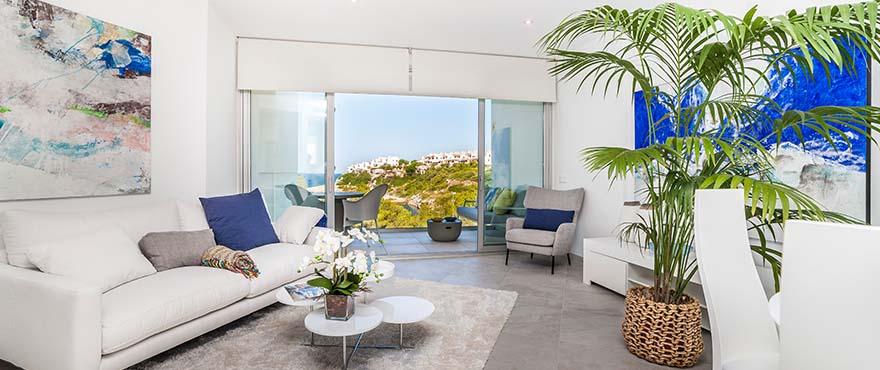 Luminous livingroom, Cala Murada, Mallorca